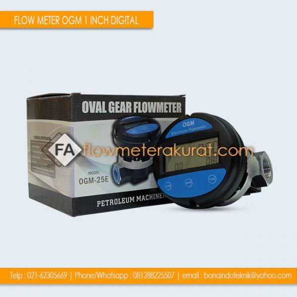 FLOW METER OGM 1 INCH DIGITAL | Jual OGM-25E Flow Meter Minyak