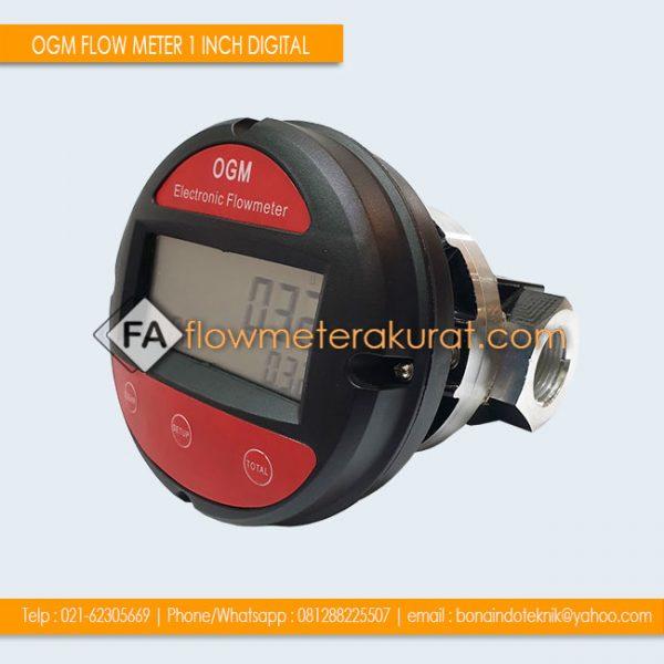OGM FLOW METER 1 INCH DIGITAL | Jual OGM Flow Meter Solar 1 Inch