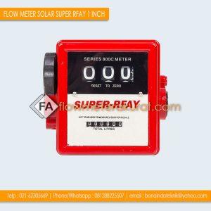 FLOW METER SOLAR SUPER RFAY 1 INCH | Jual Flow Meter 3 Digit